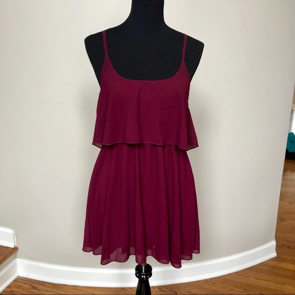Missguided Dresses & Skirts | Maroon Burgundy Cocktail Dress | Poshmark